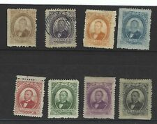 Mexico Stamps, early (1879), Scott # 123--130, Complete Set, Used