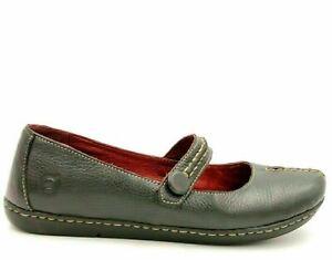 Born Women Leather Mary Jane Flats Size US 7 Black