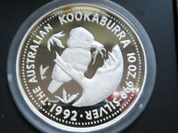 Australia. 1992 10 oz - Silver Kookaburra..   Proof in Perth Mint Case