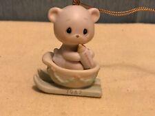 1987 Precious Moments Bear The Good News Of Christmas Ornament, #104515
