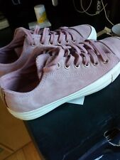 Womens pink suede leather converse size 5.5