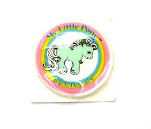 ⭐️ My Little Pony ⭐️ G1 VHTF Euro Ice Crystal Used Puffy Sticker Accessory!