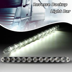 "15"" Clear 11 LED Trailer Truck RV Stop Tail Rear Brake Light Bar Sealed Lamp"