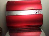 Old School Sony XM-1002HX 2 Channel Amplifier, RARE,amp, Vintage,SQ,1ohm
