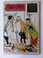 Tv Radio MOUSTIQUE 1/10/1950: Couverture Lavergne/ Panneau de Pub ciné/ Jijé
