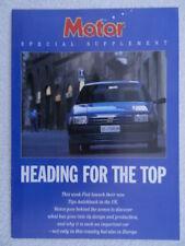 Fiat Tipo Special Supplement MotorMagazine reprint 1988 -Mille Miglia Italy tour
