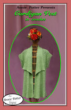"""Crochet vest pattern  """"Cardigan Vest"""" Annie Potter PDF Download"""