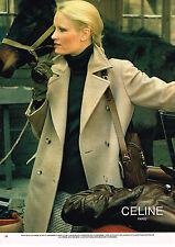 PUBLICITE ADVERTISING 044  1978  CELINE pret à porter manteau en cashemere