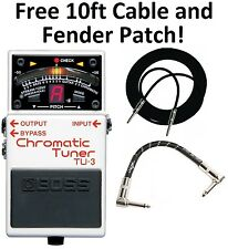New Boss TU-3 Chromatic Guitar Pedal Tuner! FREE 10ft Cable & Fender Patch!
