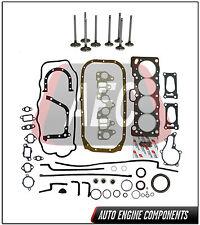 Head Set Intake & Exhaust valve For Toyota Corolla 1.6 L 4AC #HGV069