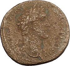 Antoninus Pius Father of Marcus Aurelius Sestertius Ancient Roman Coin i39265