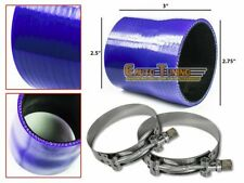"""2.75"""" To 2.5"""" Silicone Pipe Hose Coupler BLUE +T-Bolt Clamp For Jeep/Land Rover"""