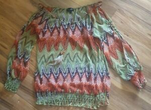 BNWOT Stella Sheer Feather Top Size 12