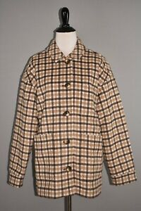 MADEWELL NEW $268 Plaid Kenwright Button Front Wool Jacket Medium