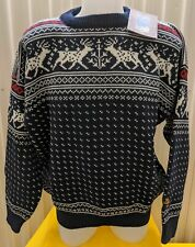 NWT Dale of Norway 100% Wool Sweater - Reindeer Pattern Unisex Size XL