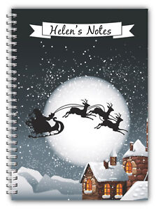 A5 PERSONALISED CHRISTMAS NOTEBOOK/ NOTE PAD LINED/CHRISTMAS PRESENT GIFT 18