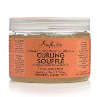 Shea Moisture Curling Gel Souffle, Coconut - Hibiscus 12 oz (Pack of 2)