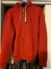 Mens Ralph Lauren Polo Red Full Zip Up Hoodie Size Large NWOT