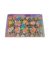 """New Bottlecaps Jigsaw Puzzle 300 Piece """"Tray of Colorful Vintage Bottlecaps"""""""