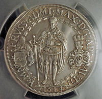 1614, Teutonic Order Knights, Maximilian III. Silver 2 Thaler Coin. PCGS XF+
