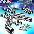 """4.5""""DUAL ROLLED TIP STAINLESS EXHAUST CATBACK SYSTEM FOR 350Z/G35 FAIRLADY Z33"""