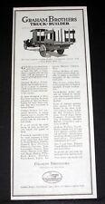 1918 OLD MAGAZINE PRINT AD, GRAHAM BROTHERS TRUCK - BUILDER, EVANSVILLE, IND!