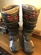 USED Fox Racing Comp 5 Womens Size 10 MX/Offroad Dirk Bike Boots Black/Pink
