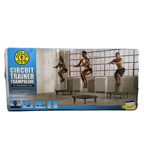 """Gold's Gym Portable Circuit Trainer Trampoline with Monitor, 36"""" Adjustable Legs"""