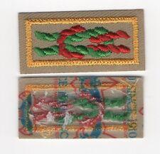 """Webelos Arrow of Light Award Knot, Tan Weave, """"Since 1910"""" Backing, Mint!"""
