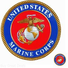 New 9.8 x 0.5 x 9.8 in Indoor/Outdoor U.S. Marines Stepping Stone/Wall Plaque
