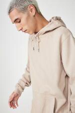 Factorie Mens Basic Hoodie Fleece Tops  In  Beige
