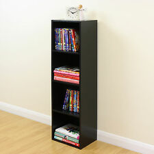 4 Tier Wooden Black Cube Bookcase Storage Display Unit Modular Shelving/Shelves