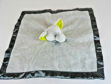 Carters Gray Elephant Lovey Blanket Green Ears Little Collections Rattle Baby