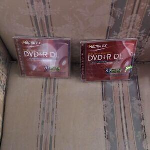 Memorex Double Layer DVD +R DL 8.5 GB 2 New Discs