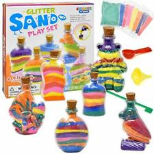 Create Your Own Sand Art Kit for Kids, Rainbow Colored Diy Activity Craft Set