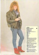 "BON JOVI Jon enjoys a glass magazine PHOTO / Pin Up / Poster 11x8"""