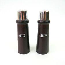 Vintage Mid-Century Modern Salt & Pepper Shakers Metal Tops Made In Japan S&P