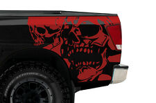Vinyl Graphics Decal Wrap Kit for Nissan Titan Truck 2004-2013 DOUBLE SKULL Red