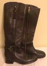 Tory Burch Womens 6M Full Zip Tall Brown Leather Riding Style Boots