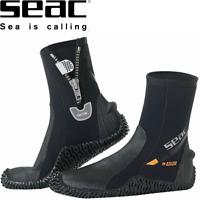 SEAC 5mm Neoprene, Non Slip Sole, Ankle Zip, DIVE Scuba BOOTS - XXS to XXL