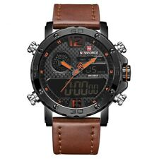 Men's Wrist Watches Leather Sports Led Digital Stainless Steel Hardlex Buckle