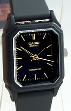 Casio LQ142-1E Ladies Analog Watch Classic Black and Gold Resin Band New