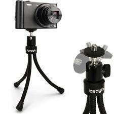 Negro Large Flexible Soporte Soporte Trípode de mesa para las cámaras compactas digitales