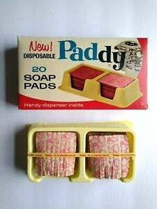 Brillo Paddy Soap Pads 1963 Unused NOS Vintage Cleaning Product In Original Box