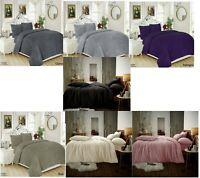 Luxury Cuddly Teddy Bear Fleece Duvet Quilt Cover Set Pillowcase Warm SuperSoft