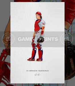 Darren Dutch Daulton 1993 Philadelphia Phillies Baseball Print Poster Art