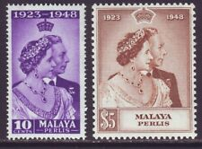 Malaya Perlis 1948 SC 1-2 MNH Set Silver Wedding