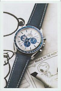 Omega x Peanuts -  Speedmaster Silver Snoopy Award Watch Print Ad Advertisement