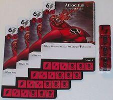 4 X ATROCITUS ATROS OF RYUT 37/142 War Of Light Dice Masters DC
