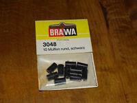 BRAWA ( 3048 ) 10 FICHES FEMELLES NOIRE CONNEXIONS DES CÂBLES NEUF/BLISTER